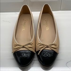 Chanel Classic Ballerina Flats - Size 37.5